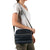 Arctic Zone® Crossbody Quilted Lunch Pack - Majolica Blue - Model carry