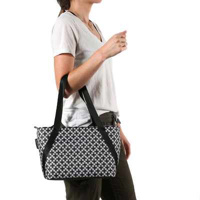 Arctic Zone® Commuter Tote - Delicate Daisies - Model carry