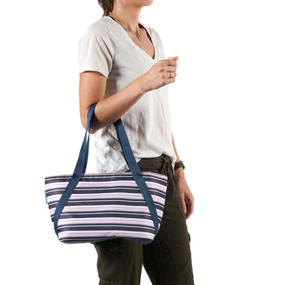 Arctic Zone® Commuter Tote - Mixed Stripes - Model carry