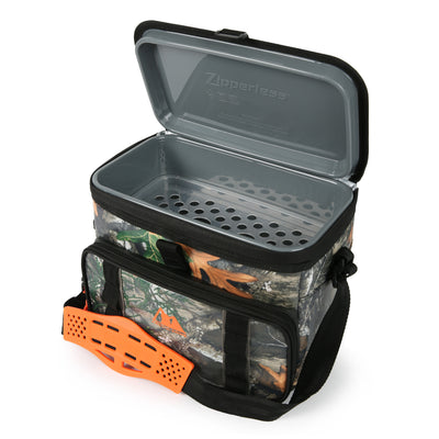 Arctic Zone®12 Can Realtree® Zipperless HardBody® Cooler - Open, empty