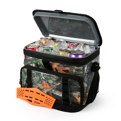 Arctic Zone®12 Can Realtree® Zipperless HardBody® Cooler - Open, propped