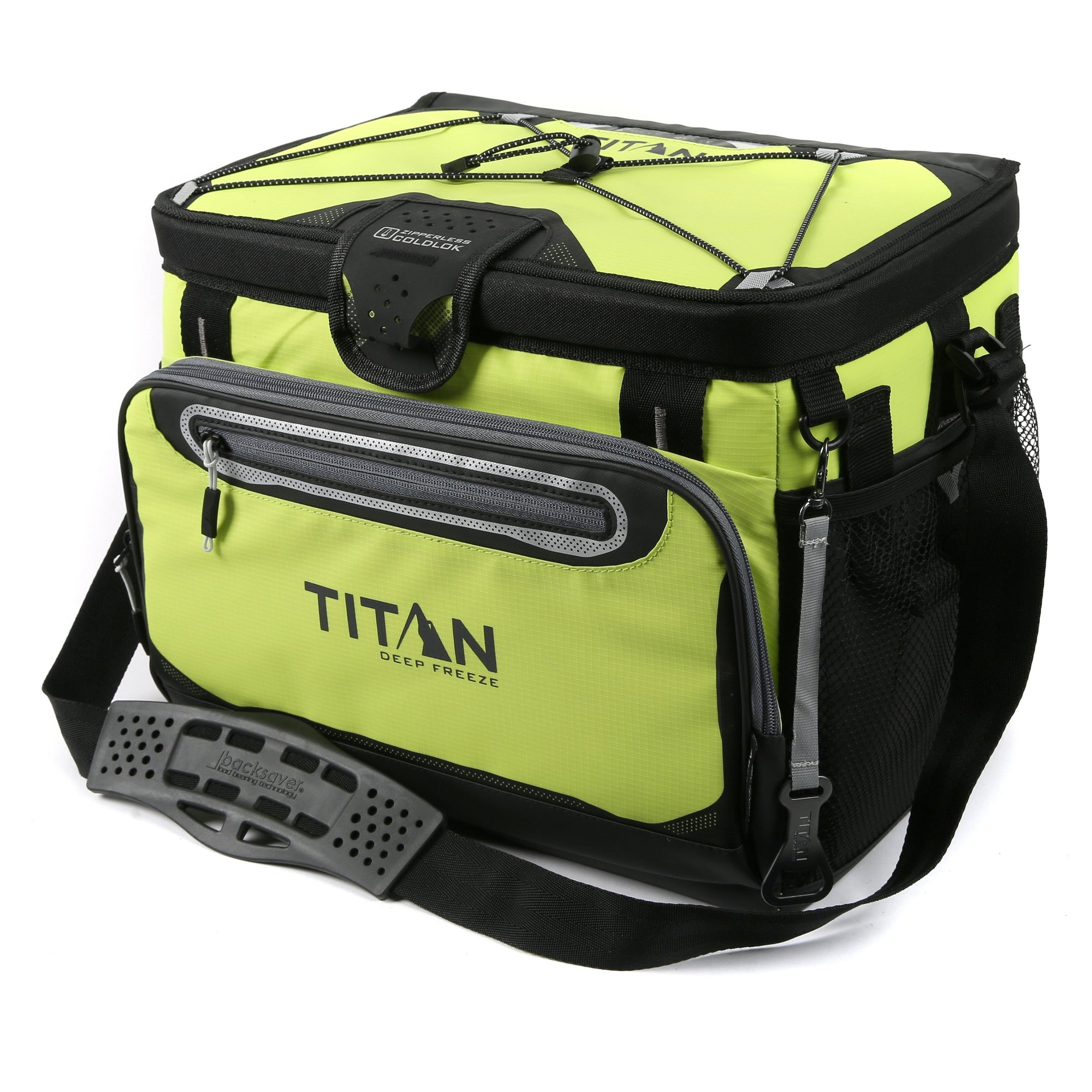 Titan Deep Freeze® 30 Can Zipperless™ HardBody® Cooler - Citrus - Front, closed