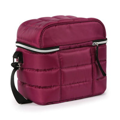 Arctic Zone® Crossbody Quilted Lunch Pack - Red Violet - Back