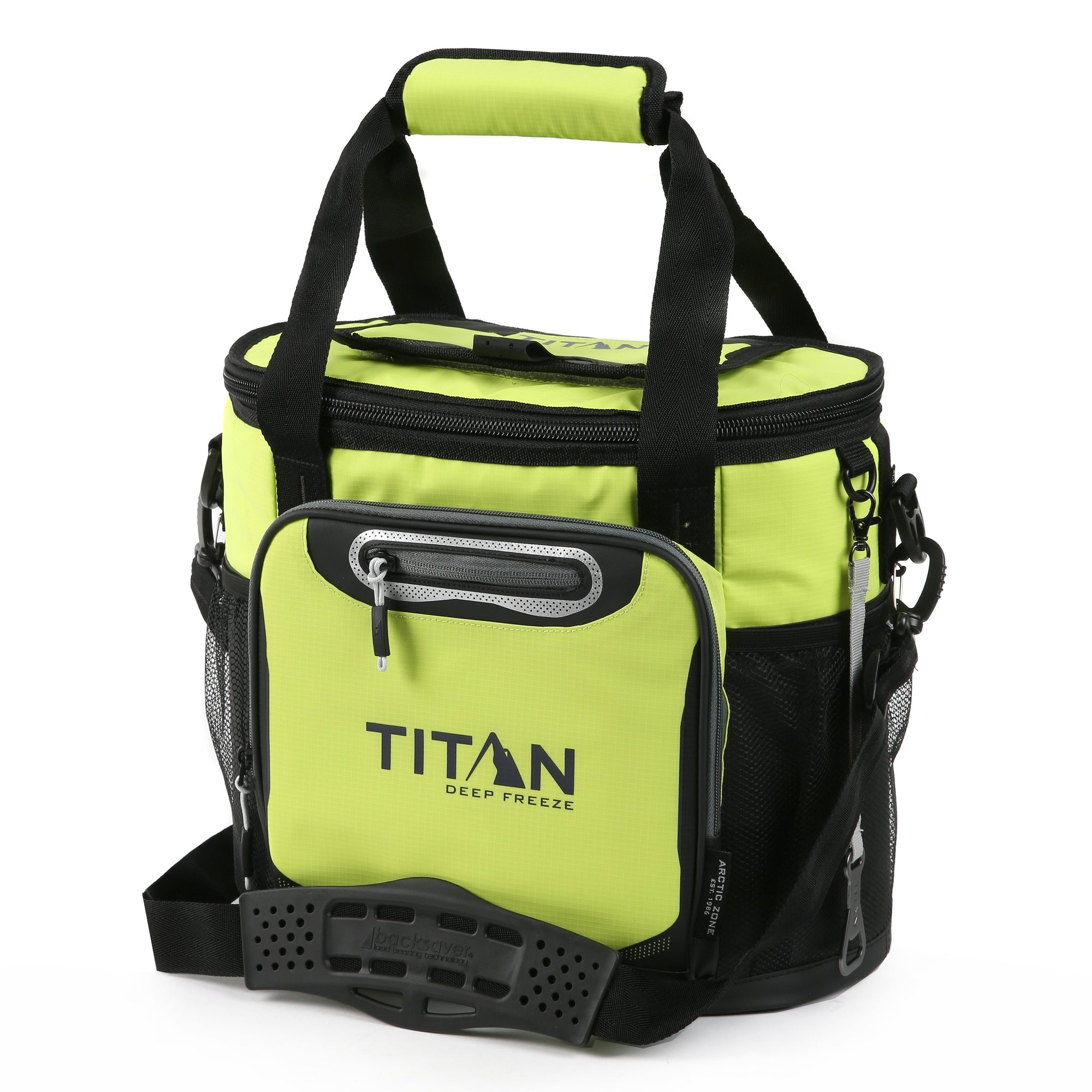 Titan Deep Freeze 24 Can Bucket Tote - Citrus - Front, closed
