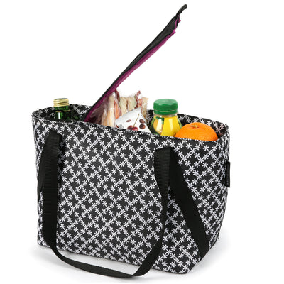 Arctic Zone® Commuter Tote - Delicate Daisies - Open, propped