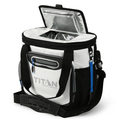 Titan Deep Freeze® 24 Can Bucket Tote - White - Easy access lid
