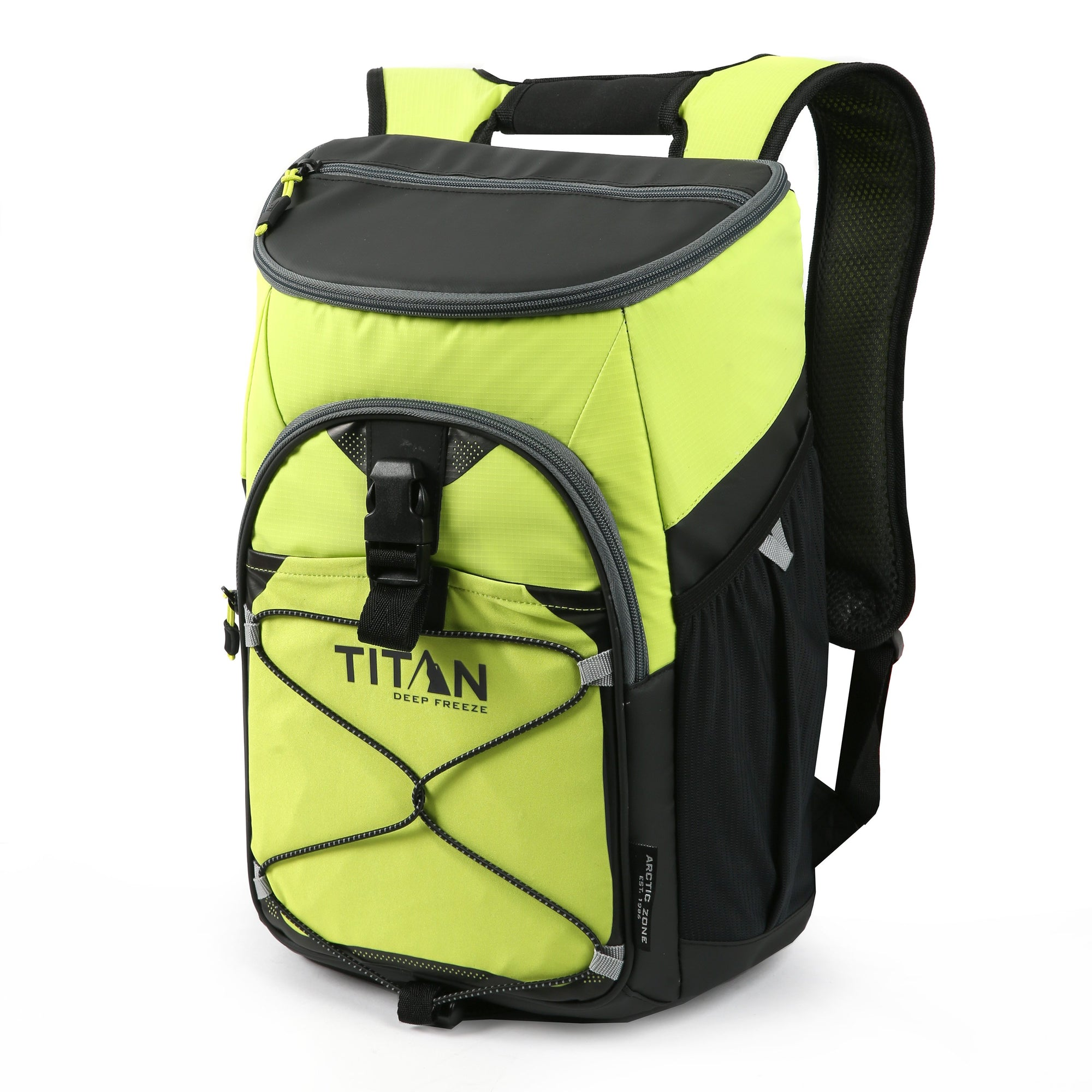 Titan Deep Freeze® 24 Can Backpack Cooler - Citrus - Front, closed