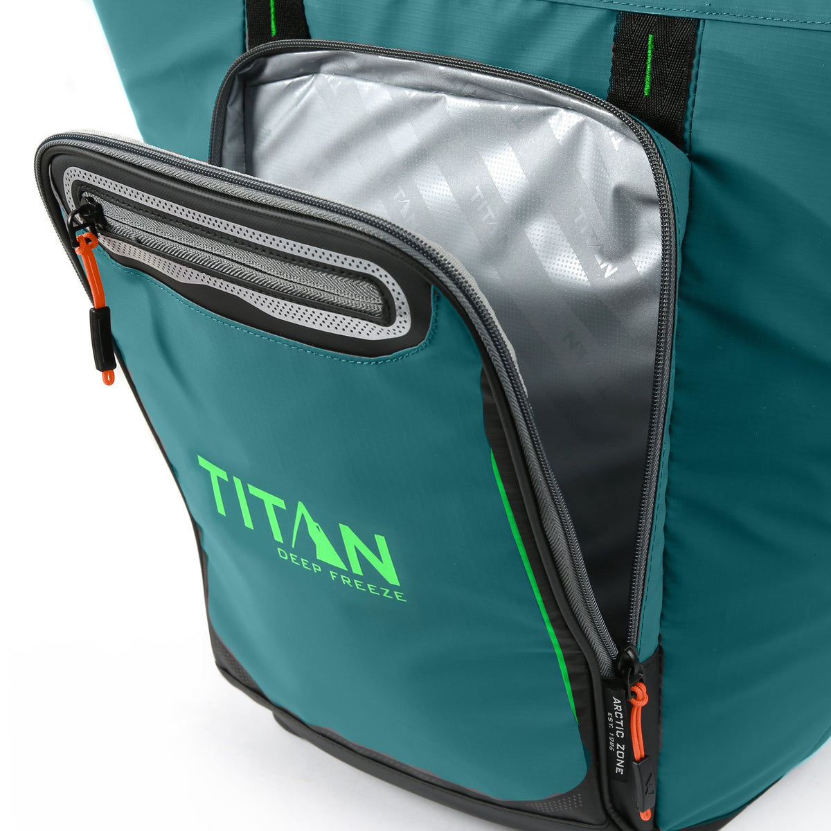 Titan Deep Freeze® 20 Can Rolltop Backpack - Pine - Insulated front pocket