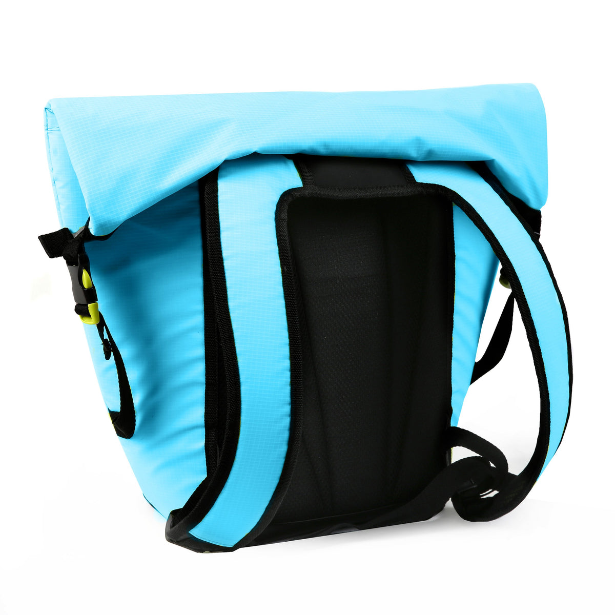 Titan Deep Freeze® 20 Can Rolltop Backpack - Blue Lagoon - Backside, straps