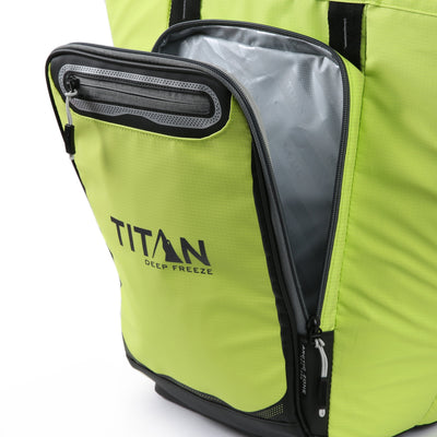 Titan Deep Freeze® 20 Can Rolltop Backpack - Citrus - Insulated front pocket