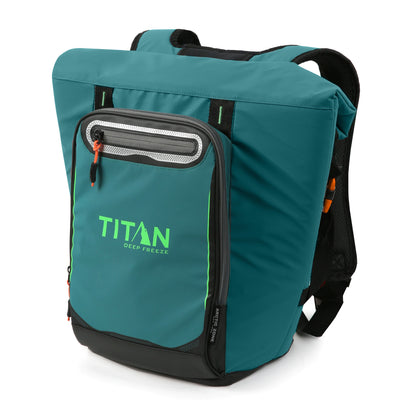 Titan Deep Freeze® 20 Can Rolltop Backpack - Pine - Front, closed