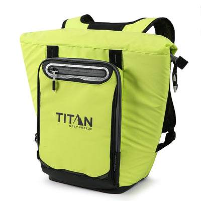 Titan Deep Freeze® 20 Can Rolltop Backpack - Citrus - Front, closed