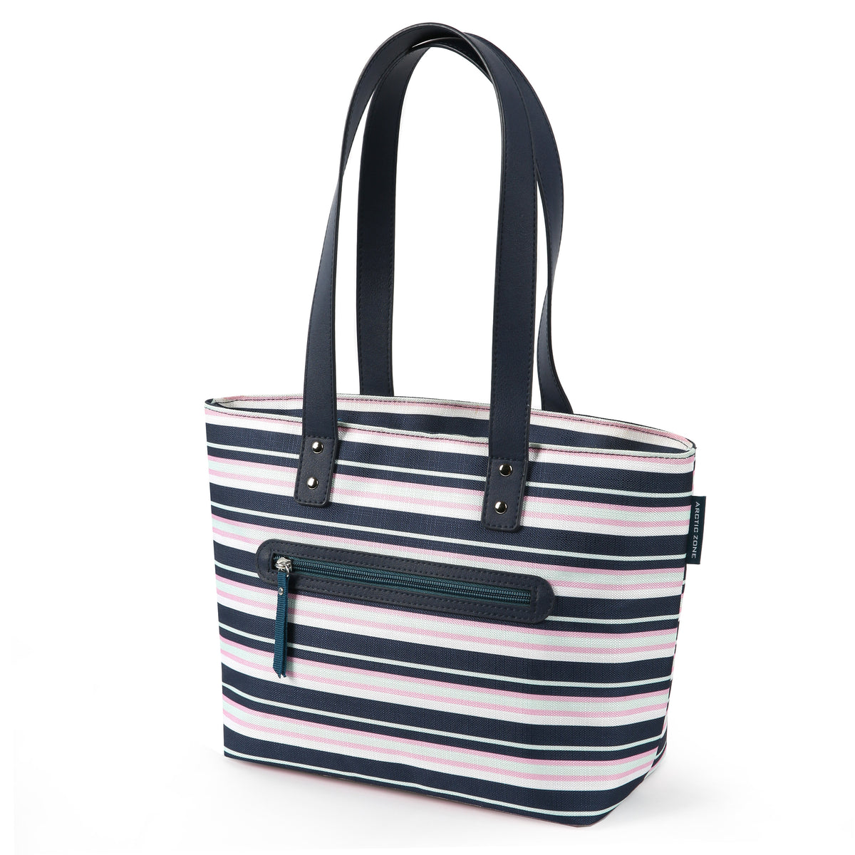Arctic Zone® Bennet Tote - Mixed Stripes - Front, closed