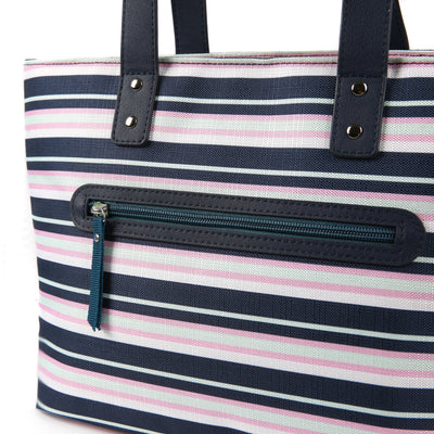 Arctic Zone® Bennet Tote - Mixed Stripes - Zippered accessory pocket