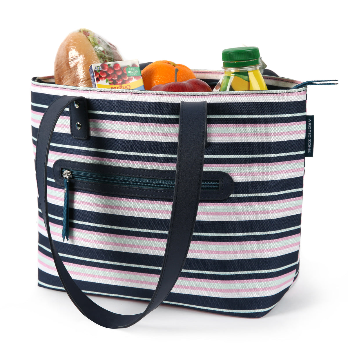 Arctic Zone® Bennet Tote - Mixed Stripes - Open, propped