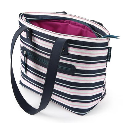 Arctic Zone® Bennet Tote - Mixed Stripes - Open, empty