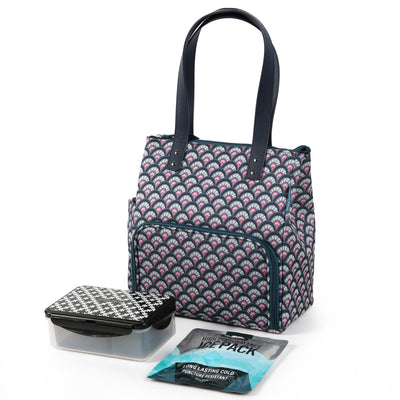 Arctic Zone® Abigail Tote - Marker Scallop - Bag with ice pack and containers