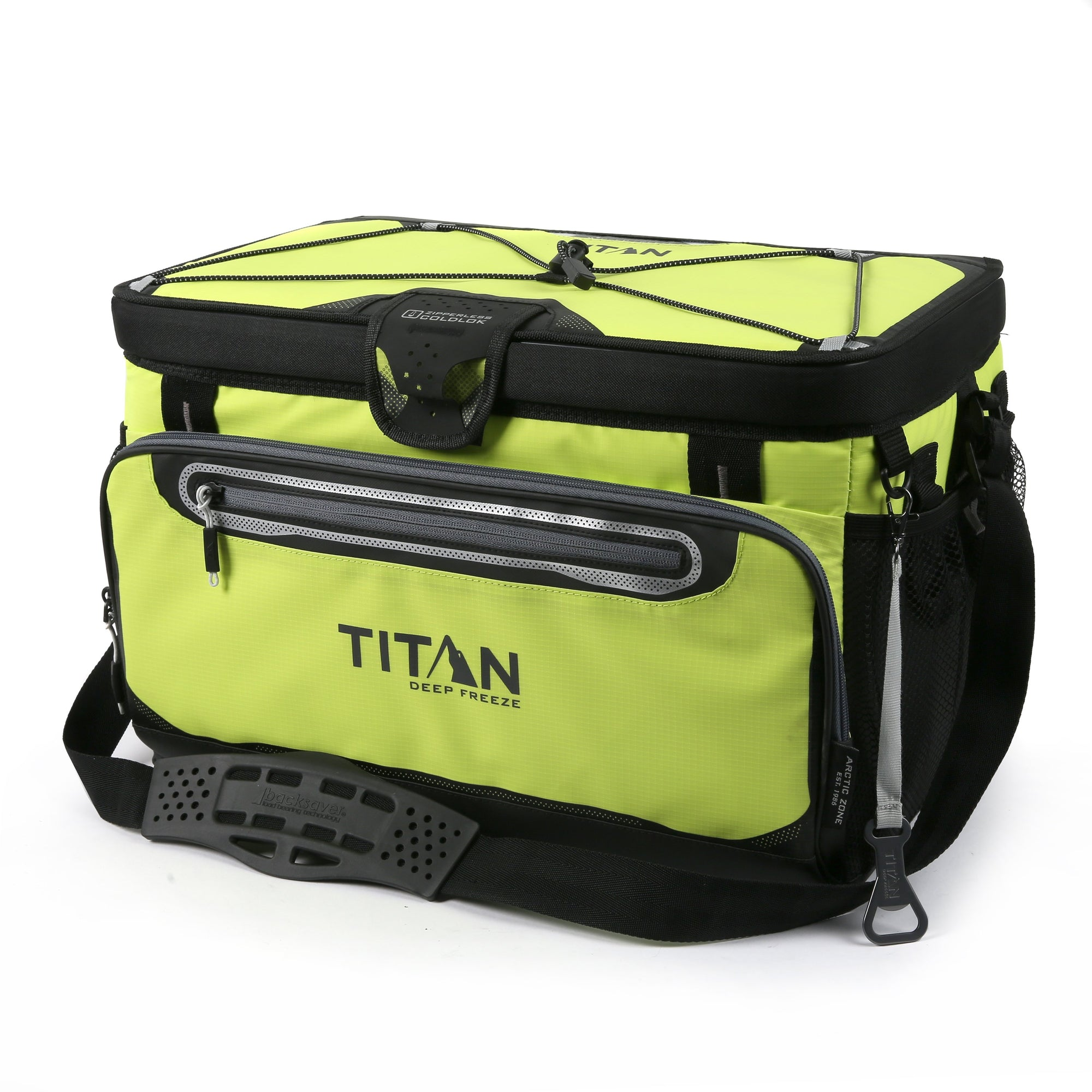 Titan Deep Freeze® 48 Can Zipperless™ HardBody® Cooler - Citrus - Front, closed