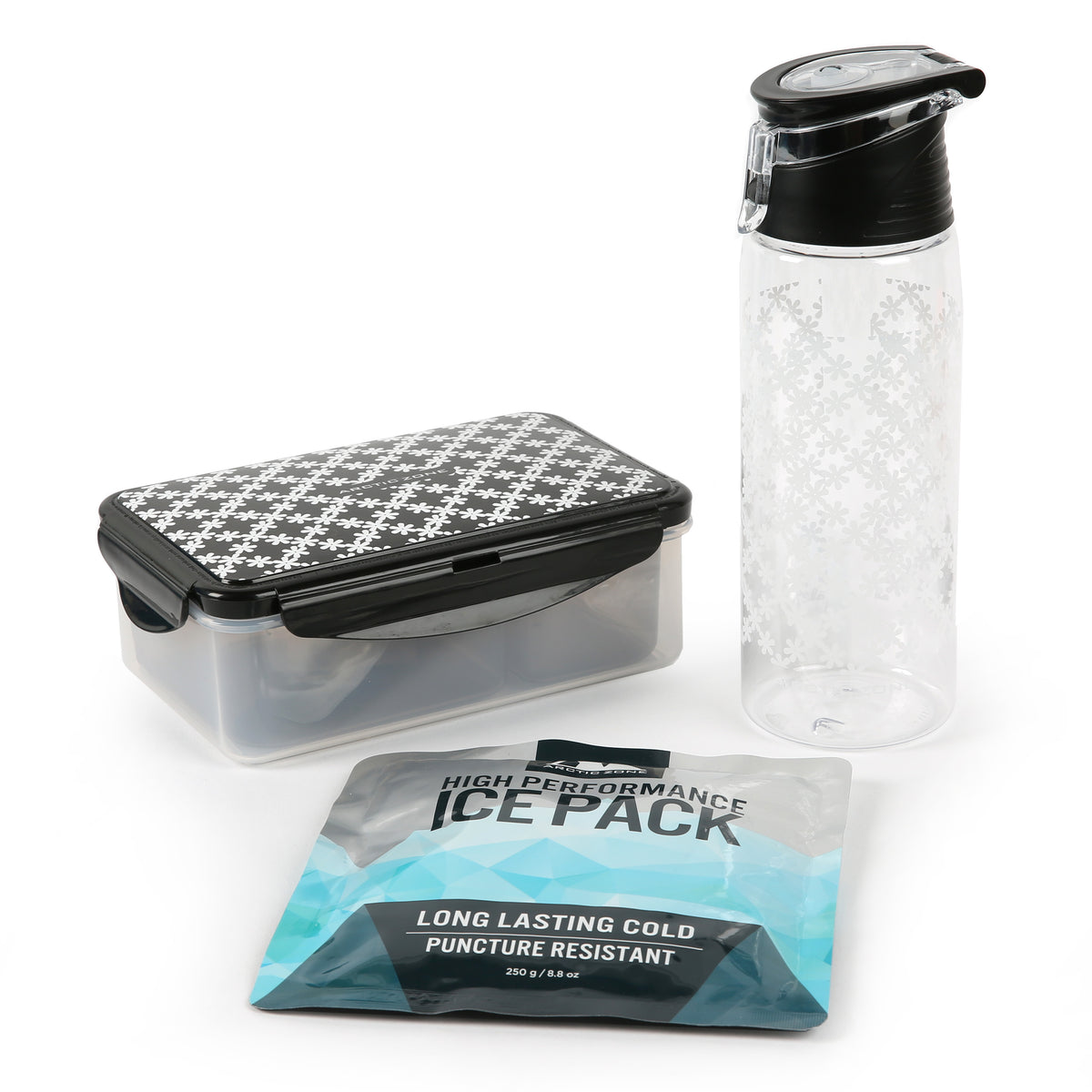 Arctic Zone® Commuter Tote - Delicate Daisies - Ice pack, water bottle and containers