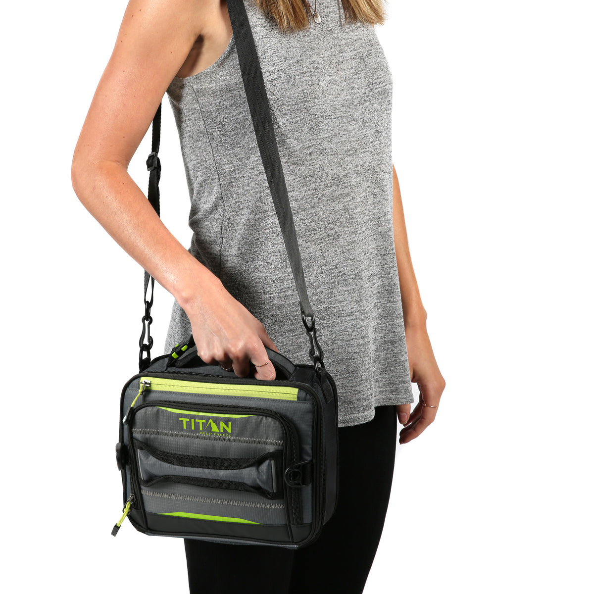 Titan Deep Freeze® High Performance Expandable Horizontal Lunch Pack - Grey - Model carry