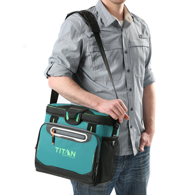 Titan Deep Freeze® 16 Can Zipperless™ HardBody® Cooler -Pine - Model carrying cooler