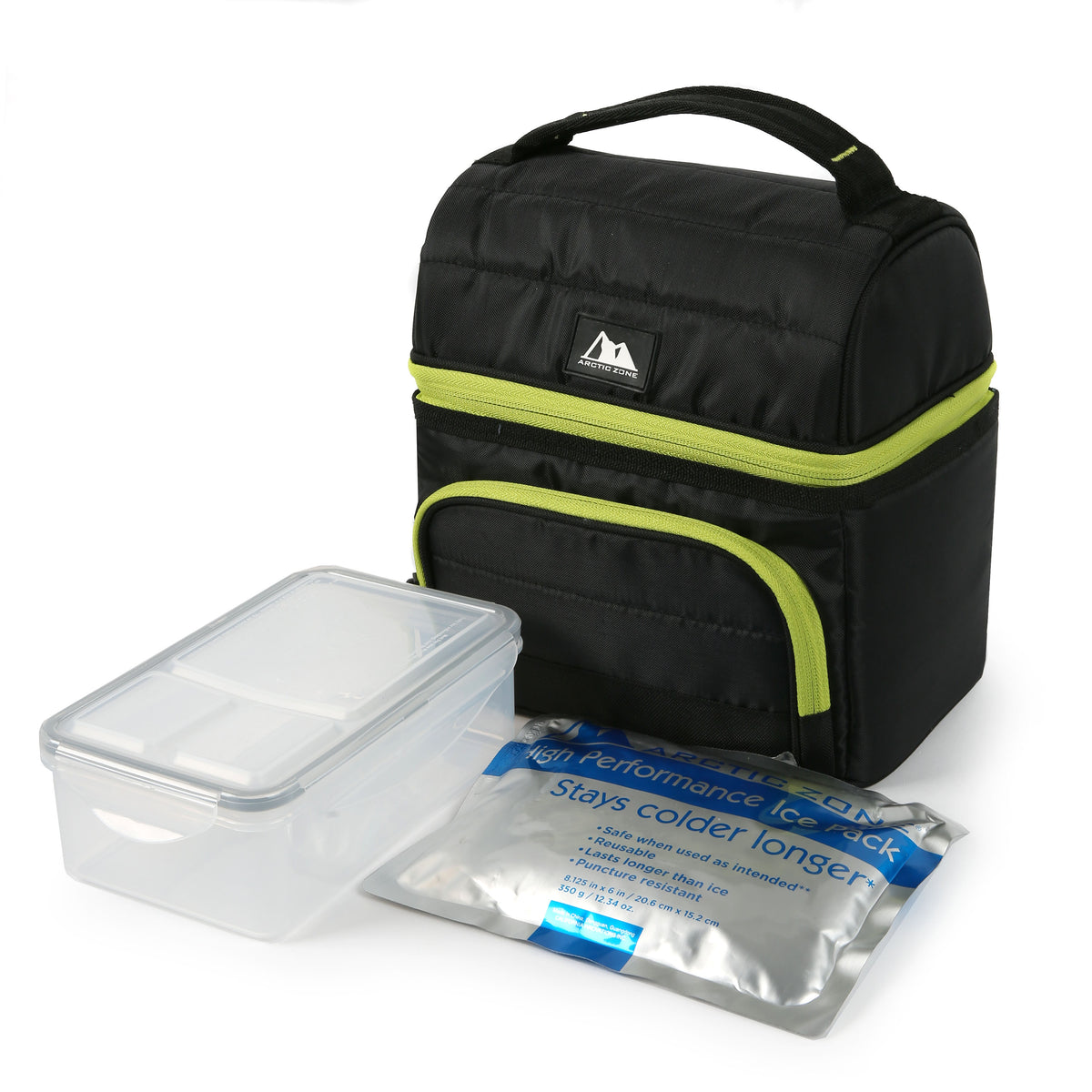 Arctic Zone® High Performance Ultimate Secret Lunch Bucket - Black - Bag with ice pack and container