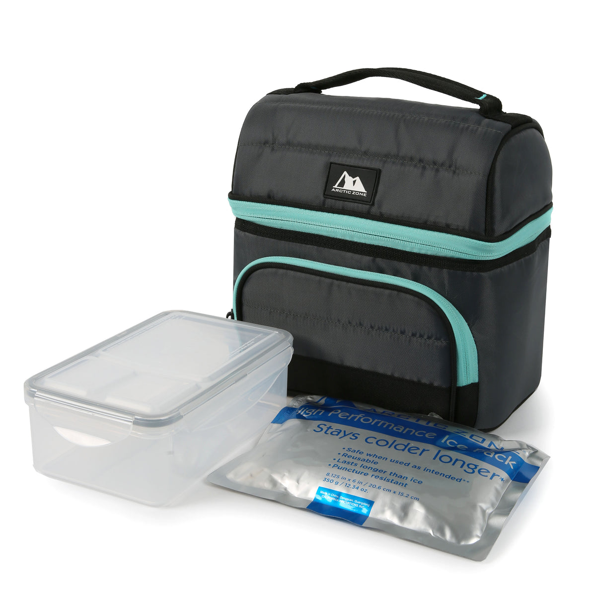 Arctic Zone® High Performance Ultimate Secret Lunch Bucket - Gray - Bag with ice pack and container