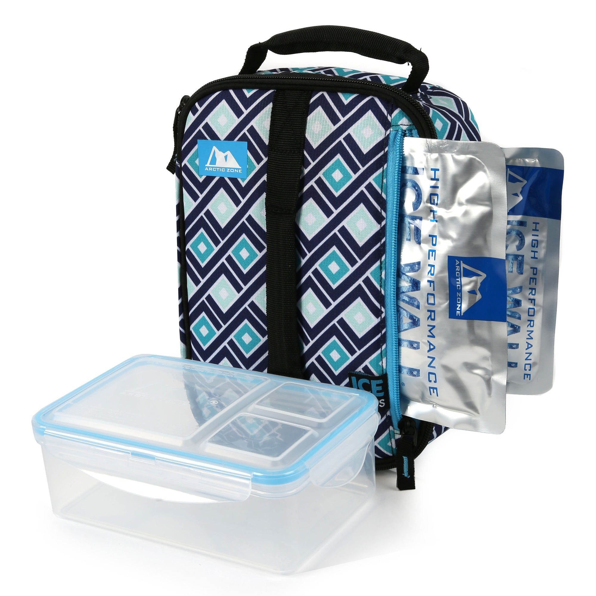 Arctic Zone® Ice Walls Upright Box - Tabitha Diamonds - Lunch box with ice walls and container