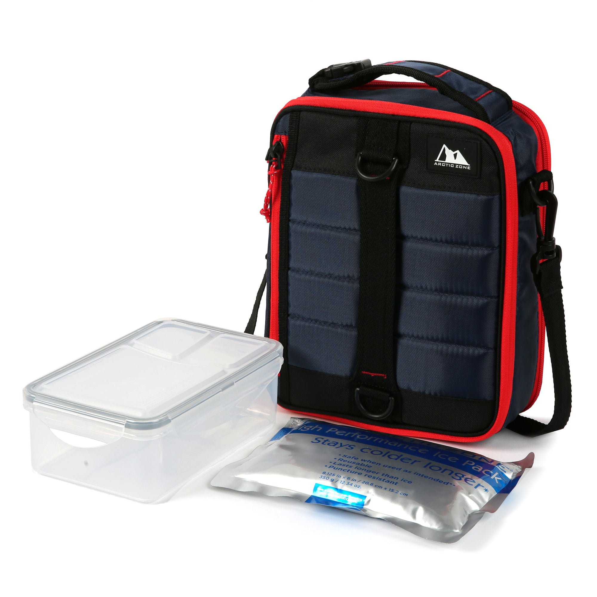 Arctic Zone® High Performance Ultimate Upright Expandable Lunch Pack - Navy - Lunch box with ice pack and container