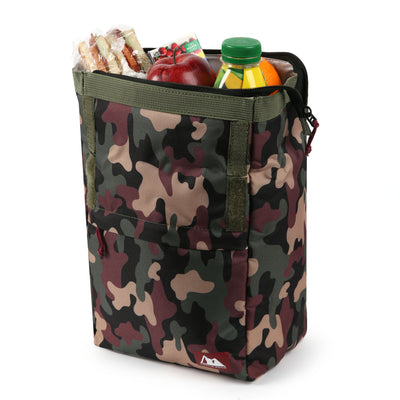 Arctic Zone® Kids Classics Lunch Sack - Camo - Open, propped