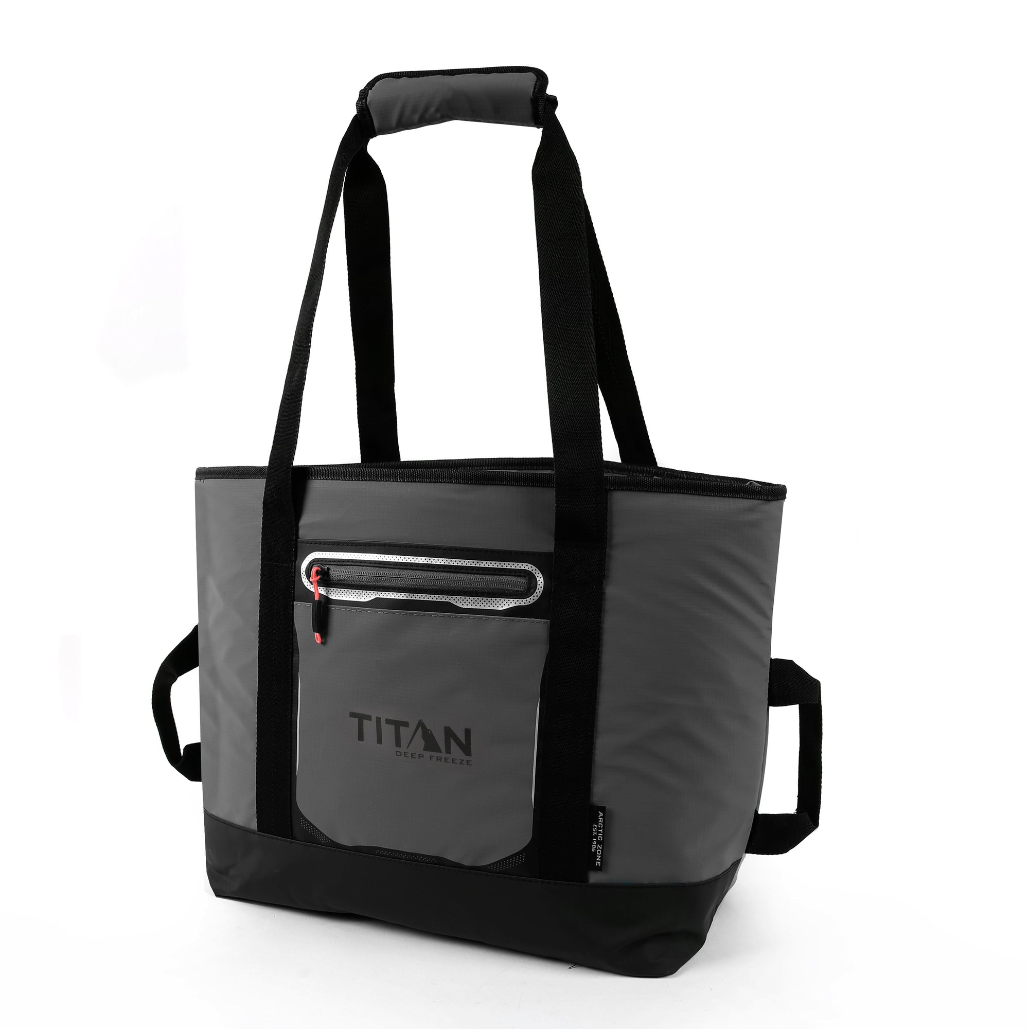 Titan Deep Freeze® 30 Can Insulated Tote - Sharkskin Gray - Front, closed