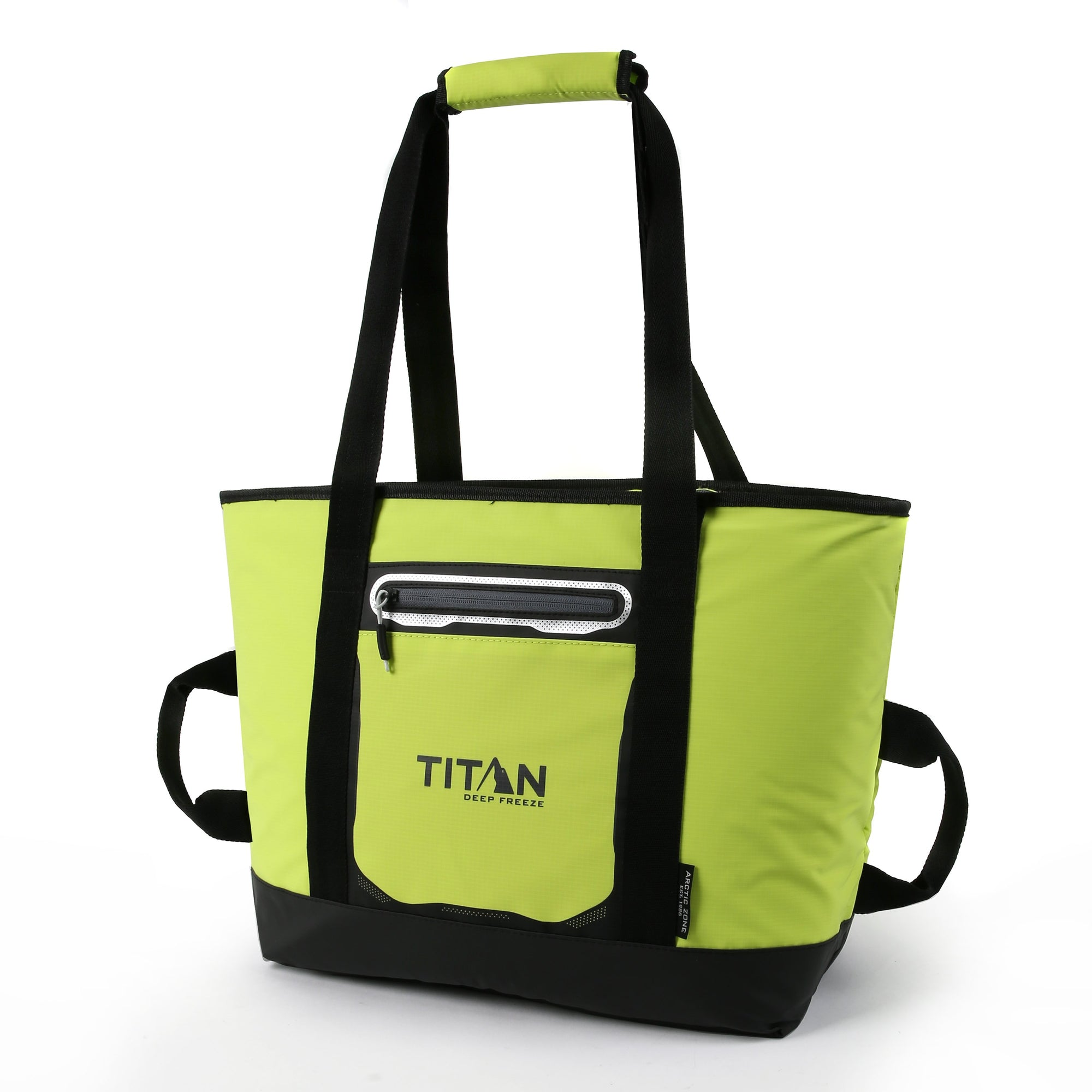 Titan Deep Freeze® 30 Can Insulated Tote- Citrus - Front, closed
