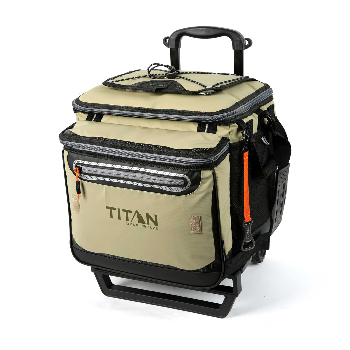 Titan Deep Freeze® 60 (50+10) Can Rolling Cooler - Moss