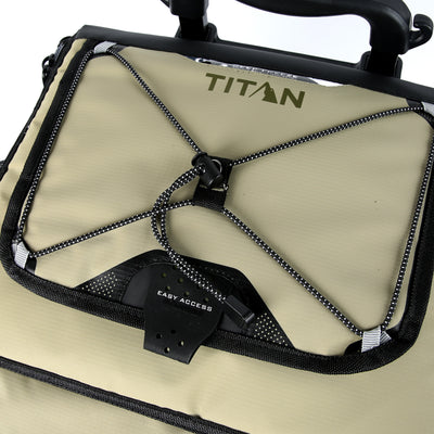 Titan Deep Freeze® 60 (50+10) Can Rolling Cooler - Moss - Easy access lid