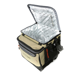 30 Can Insulated Picnic Carrier - Open proped