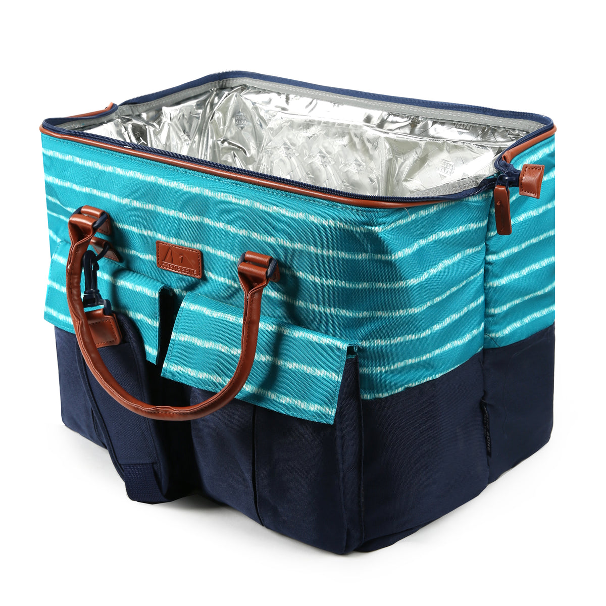 30 Can Insulated Picnic Carrier - open wide