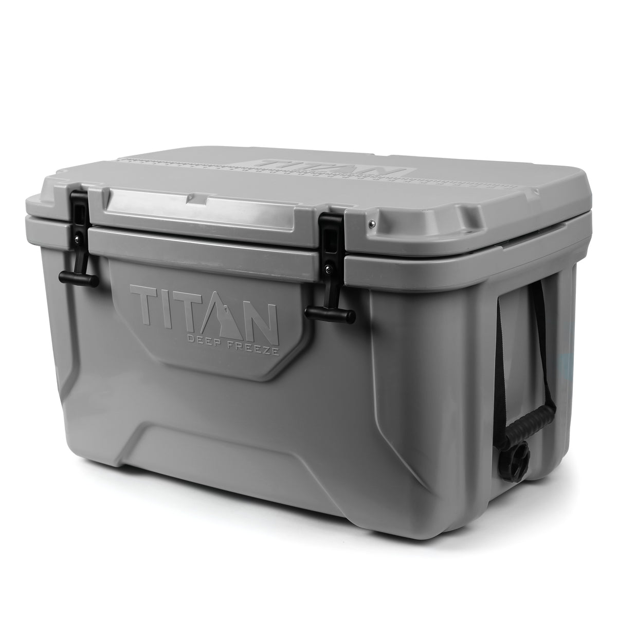 Titan Deep Freeze® 55Q Premium Ice Chest - Gray - Front, closed