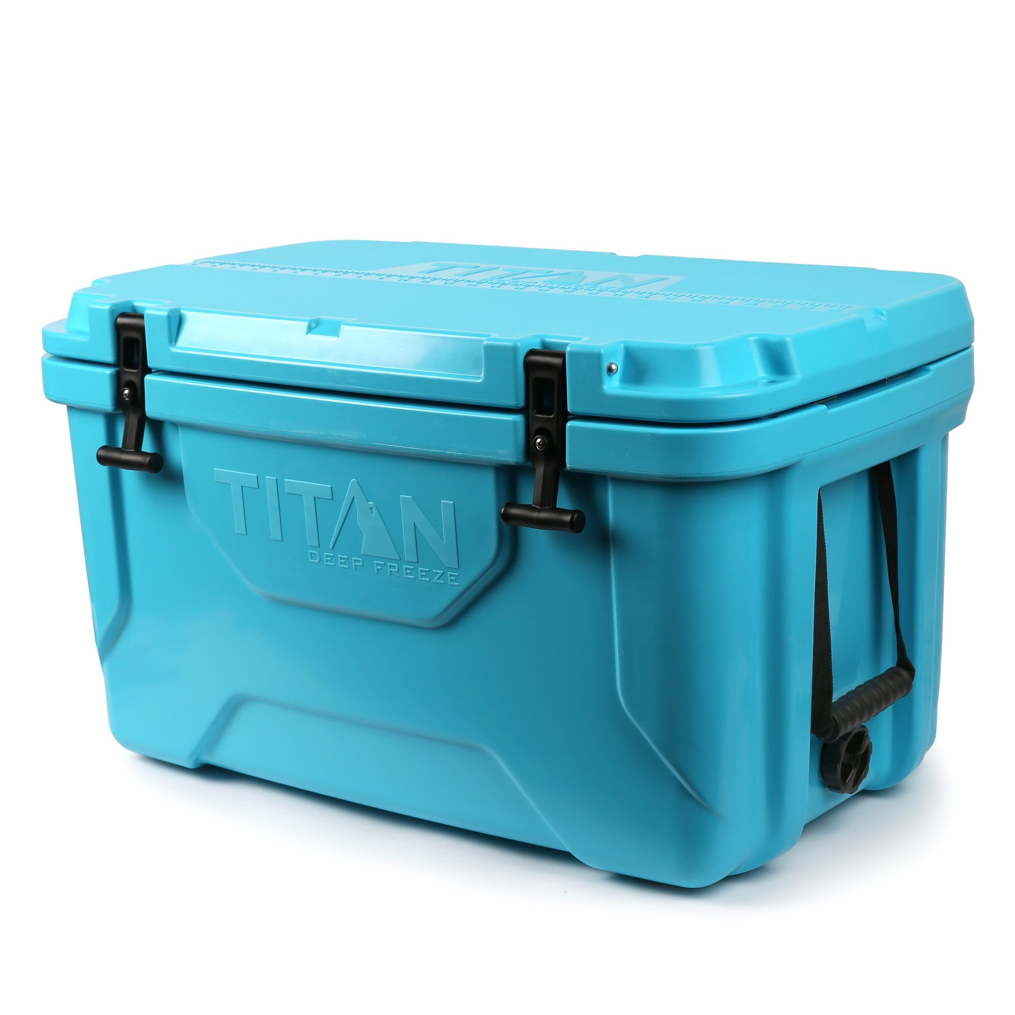 Titan Deep Freeze® 55Q Premium Ice Chest - Blue - Front, closed