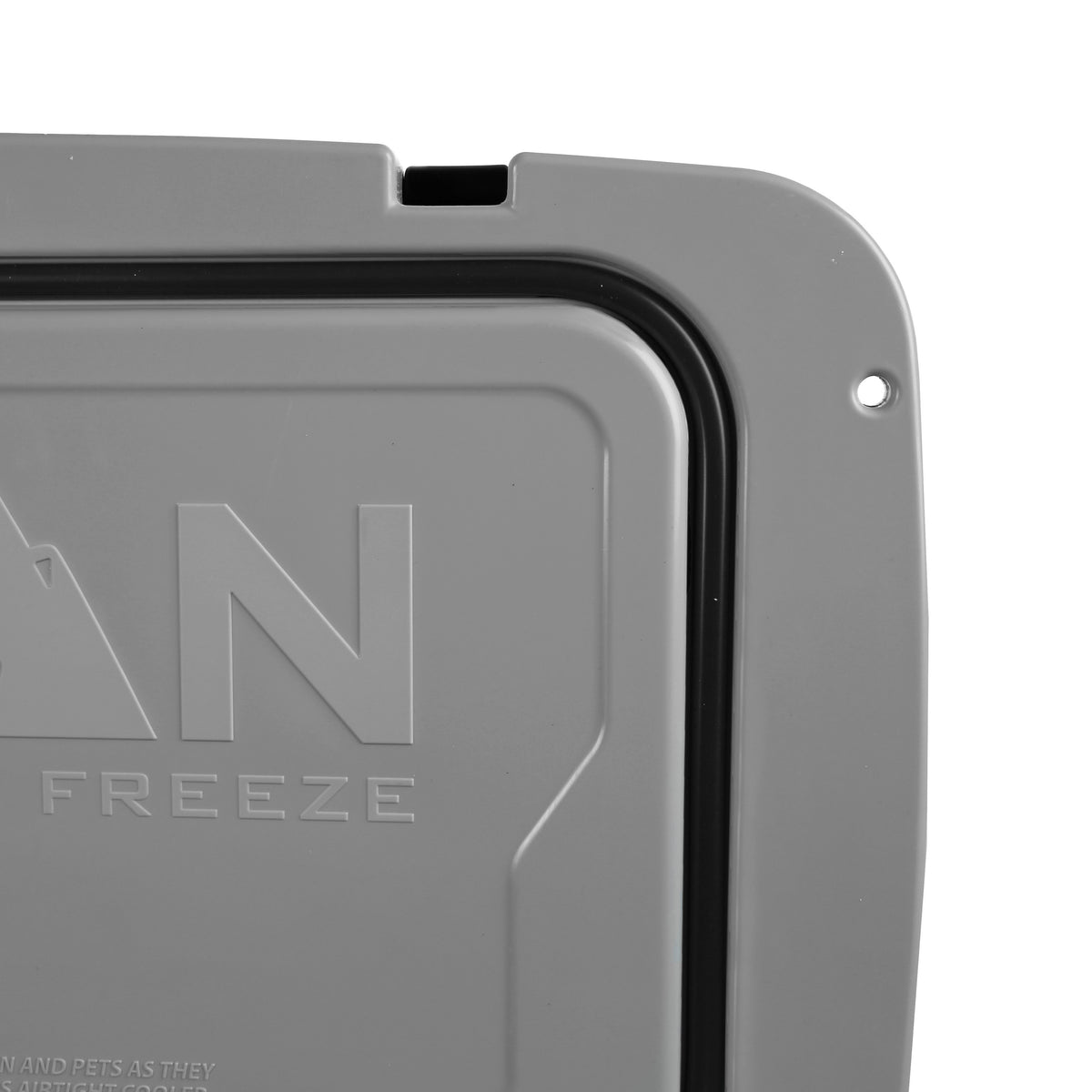 Titan Deep Freeze® 55Q Premium Ice Chest - Gray - Lid seal