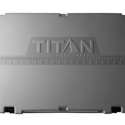 Titan Deep Freeze® 55Q Premium Ice Chest - Gray - Fish ruler