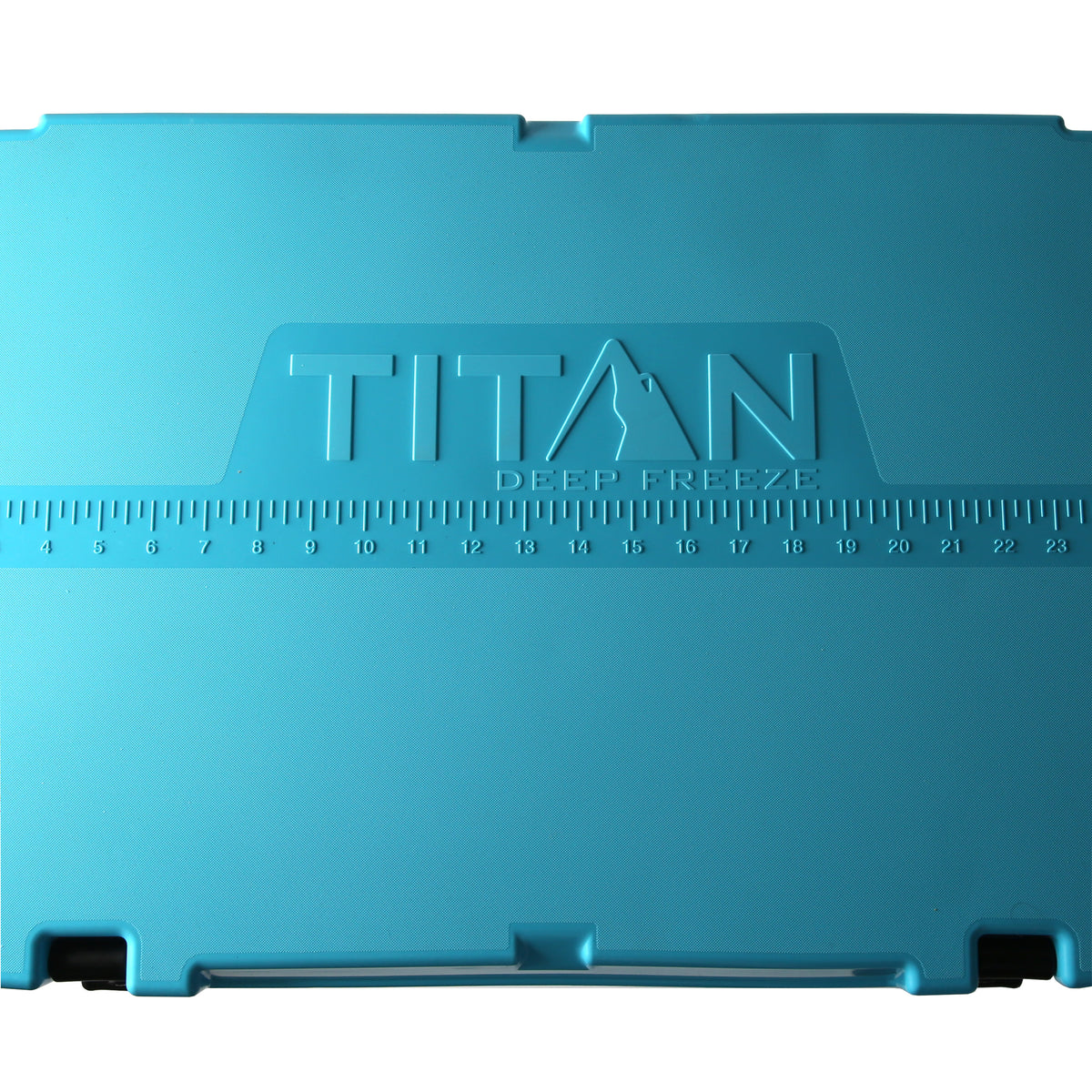 Titan Deep Freeze® 55Q Premium Ice Chest - Blue - Fish ruler