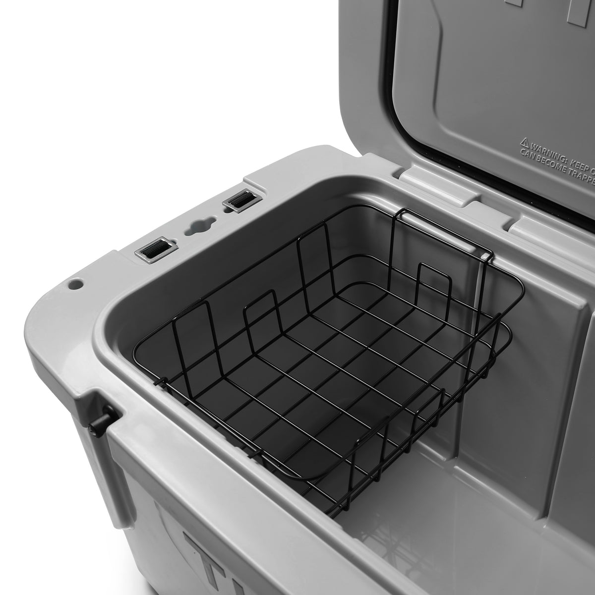 Titan Deep Freeze® 55Q Premium Ice Chest - Gray - Inside, backet