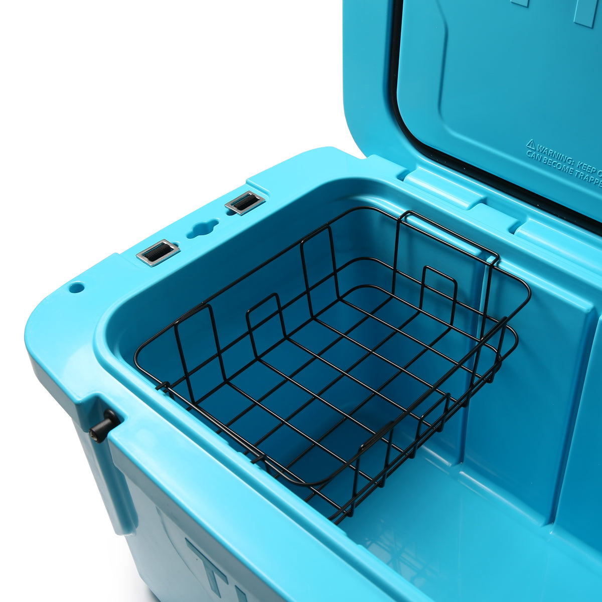 Titan Deep Freeze® 55Q Premium Ice Chest - Blue - Inside, basket