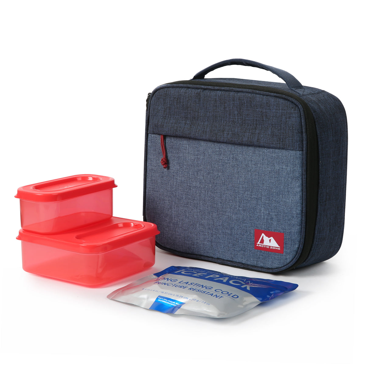 Arctic Zone® Classics Lunch Box with 210gm Ice pack & 4 Piece Container Set - Blue