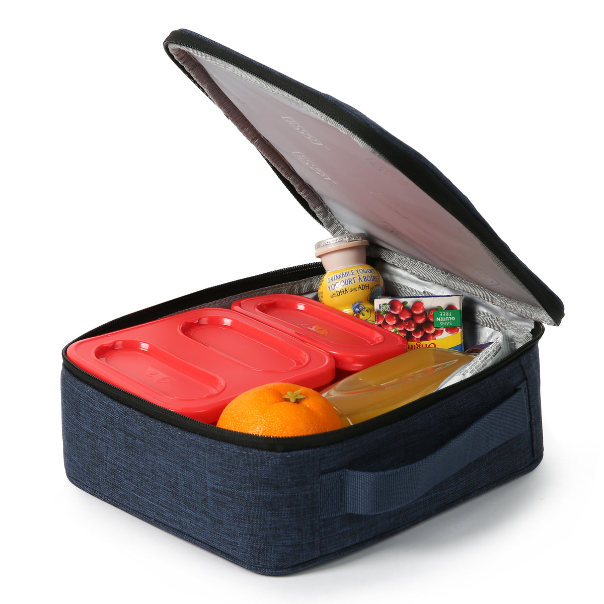 Arctic Zone® Classics Lunch Box - Blue - Open propped