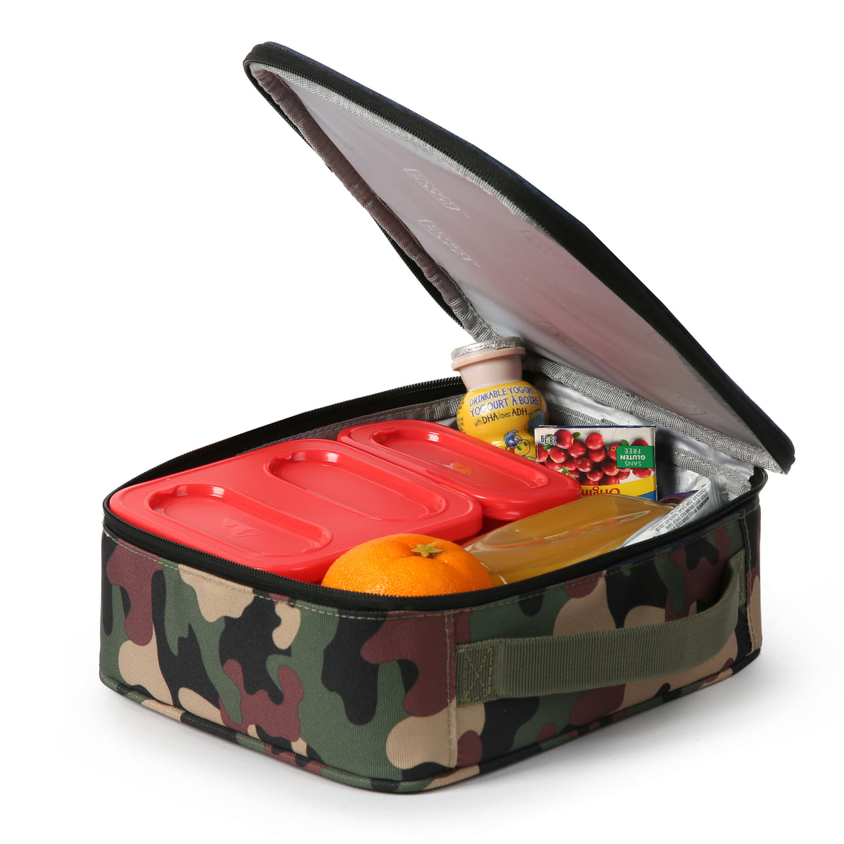Arctic Zone® Classics Lunch Box - Camo - Open propped