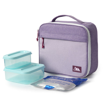Arctic Zone® Classics Lunch Box with 210gm Ice pack & 4 Piece Container Set - Purple