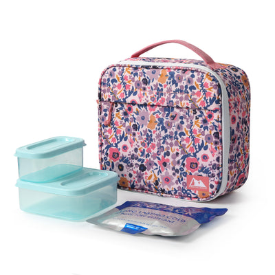 Arctic Zone® Classics Lunch Box with 210gm Ice pack & 4 Piece Container Set - Floral