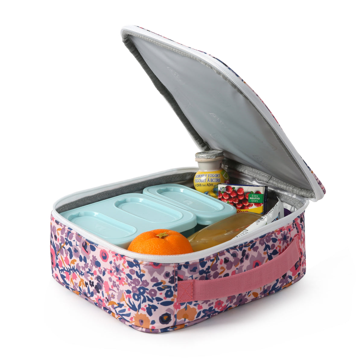 Arctic Zone® Classics Lunch Box - Floral - open propped