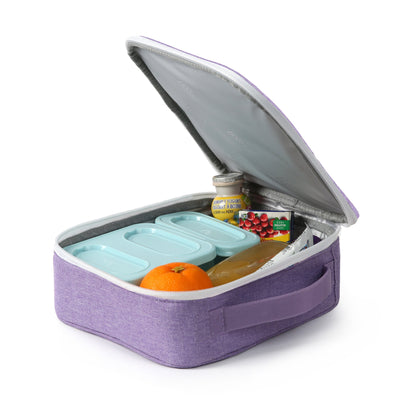 Arctic Zone® Classics Lunch Box - Purple - open propped